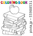 Coloring book with literature theme 1 55988531