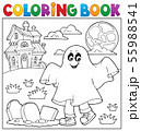 Coloring book boy in ghost costume 1 55988541