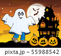 Boy in ghost costume theme image 1 55988542