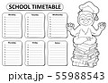 Black and white school timetable topic 5 55988543