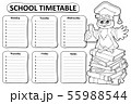 Black and white school timetable topic 4 55988544