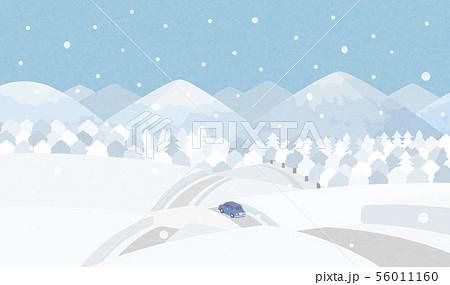 田舎道 冬 56011160