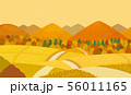 田舎道 秋 56011165