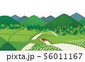 田舎道 夏 56011167