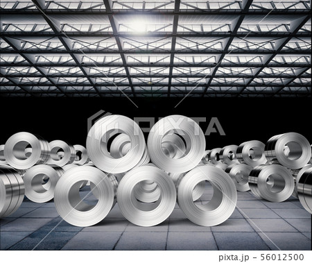 roll of steel sheets in factory 56012500