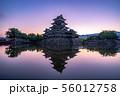 松本城 朝 【長野県】 56012758