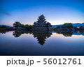 松本城 朝 【長野県】 56012761