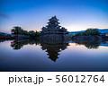 松本城 朝 【長野県】 56012764