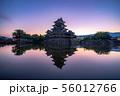 松本城 朝 【長野県】 56012766