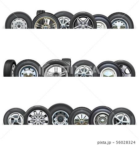 Vector Car Wheels Borders 56028324
