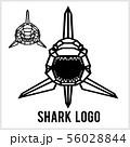 Shark logo - animal heads icons. Vector geometric illustrations of wild life animals. 56028844