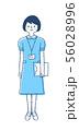 ナース服 医療従事者 女性 56028996