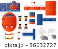 Cut and glue robot toy vector illustration. Paper 56032727