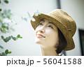 女性 家庭菜園 56041588