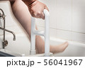 hand holding handrail for the disabled and the elder 56041967