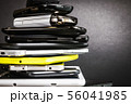 old and broken smartphones and mobile phones 56041985