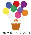 気球に乗った少女 56042224