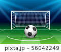 Football goal with soccer ball 56042249