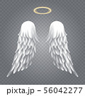 Angel wings with nimbus 56042277