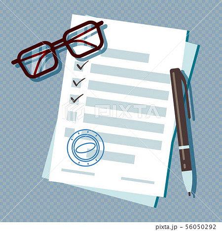 Loan application form document isolated on transparent background 56050292