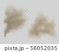 Smoke or dust clouds isolated realistic vector 56052035