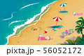 Summer vacation, sea and sand, tropical beach top view. 56052172