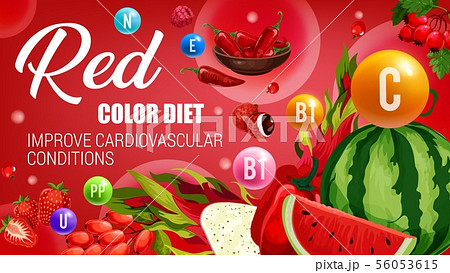 Healthy food, red color diet nutrition 56053615