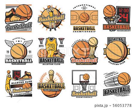 Basketball sport club, streetball team badges 56053778