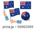 Australia flag in hand icon 56062069