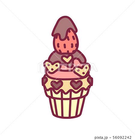 vector cute cupcake sweets art 56092242