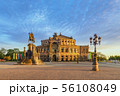 Dresden Germany, city skyline at Opera House 56108049
