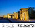 Madrid Spain, city skyline at Temple of Debod 56108072