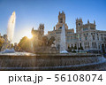 Madrid Spain, city skyline at Cibeles Fountain 56108074