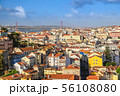 Lisbon Portugal, city skyline at Baixa district 56108080