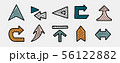 Set of hand drawn arrows. Direction, navigation, download, location and other concept icons 56122882