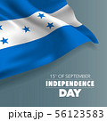 Honduras happy independence day greeting card, 56123583