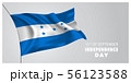 Honduras happy independence day greeting card, 56123588