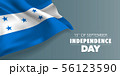 Honduras happy independence day greeting card, 56123590