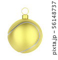 Golden tennis ball like Christmas ornament 56148737