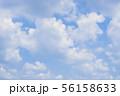 青空と雲の背景素材 暑中見舞い テンプレート 56158633