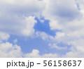 青空と雲の背景素材 暑中見舞い テンプレート 56158637