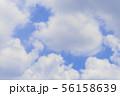 青空と雲の背景素材 暑中見舞い テンプレート 56158639