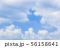 青空と雲の背景素材 暑中見舞い テンプレート 56158641