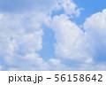 青空と雲の背景素材 暑中見舞い テンプレート 56158642