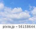 青空と雲の背景素材 暑中見舞い テンプレート 56158644