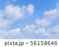 青空と雲の背景素材 暑中見舞い テンプレート 56158646
