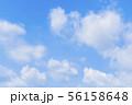 青空と雲の背景素材 暑中見舞い テンプレート 56158648