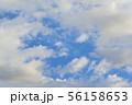 青空と雲の背景素材 暑中見舞い テンプレート 56158653