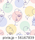 pattern with woman face 56167839