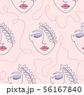 pattern with woman face 56167840